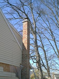 chimney rebuild post chimney fire